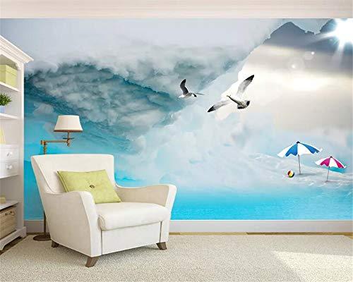 Beibehang Custom Photo Wallpaper 3D Glacier Seascape Seabird Mural Wallpaper Living Room Bedroom Sofa 3D Wallpaper Painting