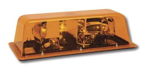 (Star Dual Rotator Permanent Mount Mini Light Bar - Amber)