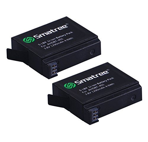 Smatree Battery (2 Pack) Compatible for Gopro Hero 4 (NOT for Hero 5)