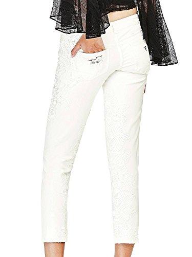 Confort Broderies Blanc Femme Guess Jeans 0qwwZFnx