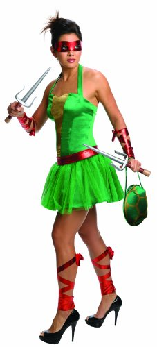 Secret Wishes  Costume Teenage Mutant Ninja Turtles Raphael Adult Female, Green, (Teenage Mutant Ninja Turtle Female Costumes)