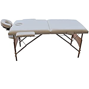"White 84""L Portable Massage Table Facial SPA Bed Tattoo w/Free Carry Case"