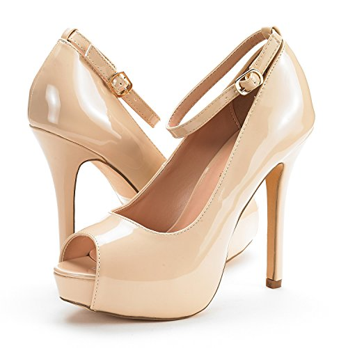 Plaform Dress Pump High PAIRS Shoes Nude Pat Swan DREAM 10 Heel Women's 7Oq1Uaagw