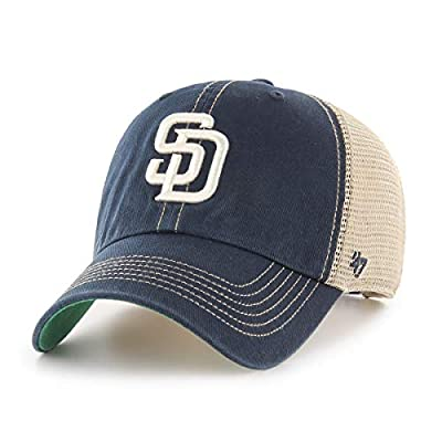 '47 Brand San Diego Padres Trawler Clean Up Adjustable Trucker Hat Cap, Snapback
