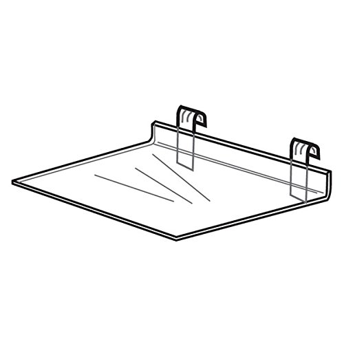 Acrylic Gridwall Shelf - 12''w x 6''d - Standard Shelves Work With all Standard Gridwall Panels by The Competitive Store