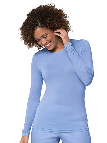 (Maevn Women's Coolmax Long Sleeve Under Scrub Tee(Ceil Blue, XXX-Large))