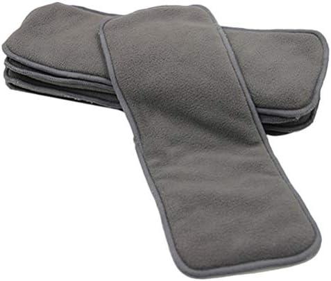 Healifty 4本布おむつインサートライナー洗える再利用可能な竹炭おむつライナーアンダーパッド