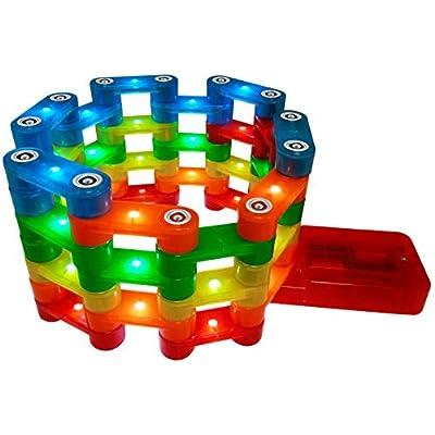 Magz Electrobrix 42 Piece Magnetic Light up Building Set: Toys & Games