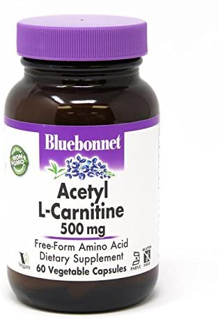 Bluebonnet Acetyl L-Carnitine 500 Mg Vitamin Capsules, 60Count