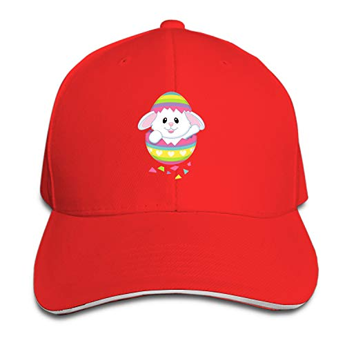 Customized Unisex Easter Bunny Trucker Baseball Cap Adjustable Peaked Sandwich Hat ()