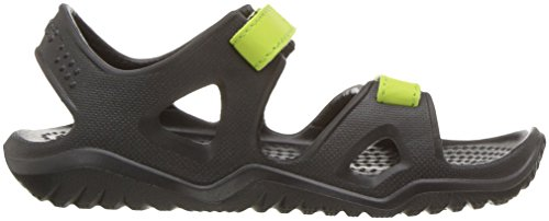 crocs Swiftwater Jungen Sandalen schwarz - grün