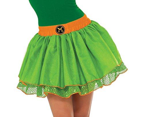 [Rubie's Costume Co Women's TMNT Classic Michelangelo Tutu Costume, Green, Standard] (Costume Tutu For Adults)