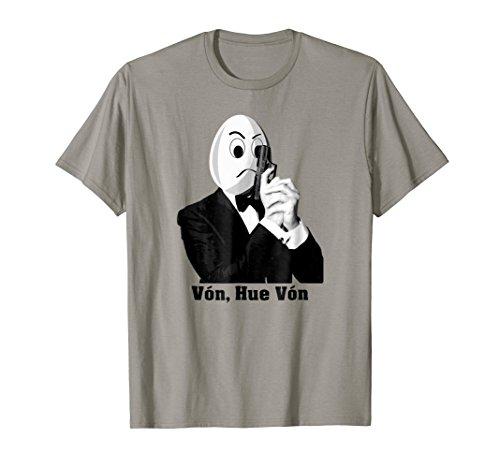 Hue Von T-shirt - Spy Egg Wearing Suit Tuxedo + Gun