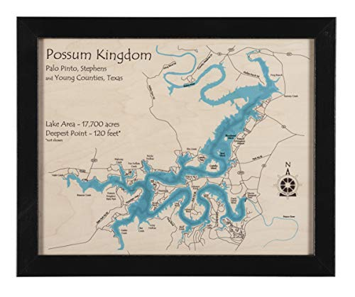 Long Lake Lifestyle Bellingham Bay - Whatcom County - WA - Multicolor Laser Print Map 11 x 14 in (Black Frame with Glass) - Multicolor Print Framed Nautical Chart and Topographic Depth map. (Wa Of Map Bellingham)