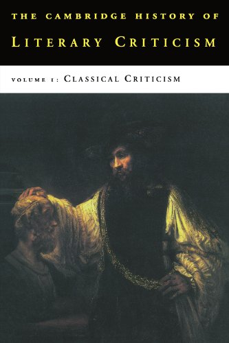 The Cambridge History of Literary Criticism, Vol. 1: Classical Criticism