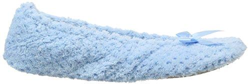 Ladies Blue Slippers Isotoner Popcorn Lbl light Donna Pantofole Blu Ballet Hdnvaxwq