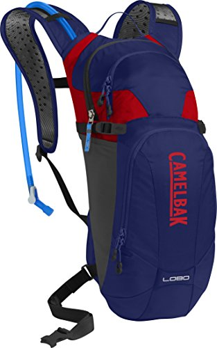 CamelBak Lobo 100 oz Hydration Pack, Pitch Blue/Racing Red