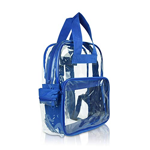DALIX Small Clear Backpack Bag in Royal -