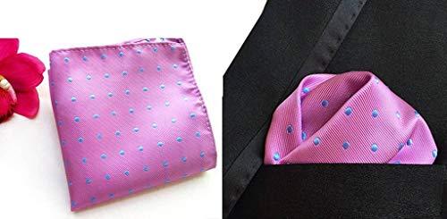 Pocket Square Purple Hanky Polka Dot Men's Handkerchief Polyester COMVIP Suit qYXznZ