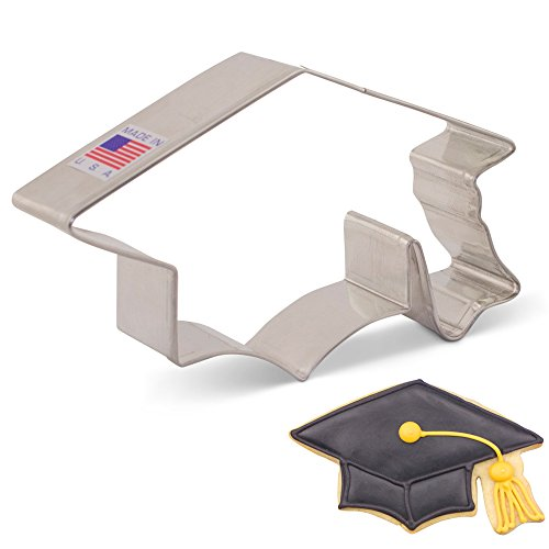 Graduation Cap/Hat/Mortar Board Cookie Cutter - 4.38 Inch - Ann Clark - US Tin Plated Steel (Cutters Graduation Cookie)