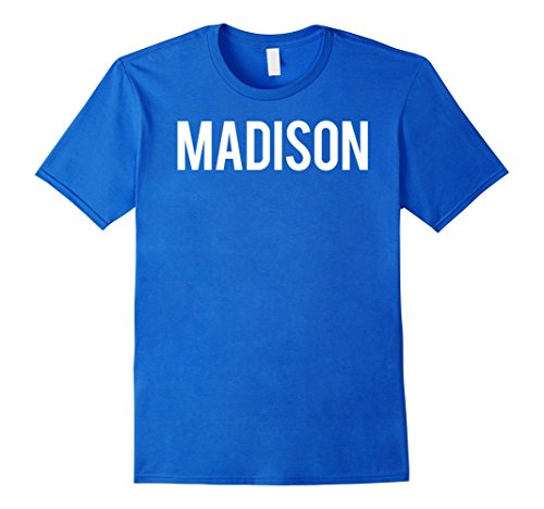 Mens Madison T Shirt Cool Wi State city fan funny cheap gift tee Small Royal - Wi Madison Men's Clothing