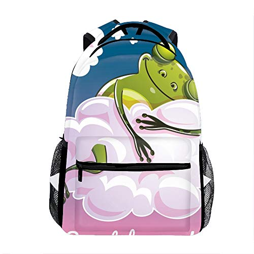Backpacks Female knapsack Daypack Lightweight College Bags School Bookbag Casual fashion Sweet Dreams Frog Backpacks