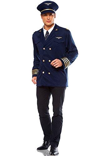 Mens Pilot Costumes (Costume Culture Men's Pilot Costume Extra Large, Blue, X-Large)