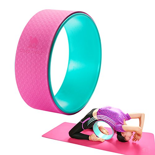 Camel 13 x 5 Dharma Yoga Wheel, Support Up to 600Ibs Plexus Wheel Roller for Back Pain, Stretching&Backbend