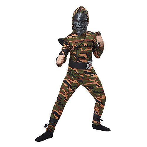 [Totally Ghoul Desert Camo Ninja Costume & Mask, Boy's size Large, ages 8-14] (Desert Camo Ninja Costumes)