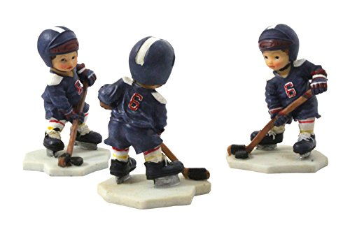 S&D Child Hockey Player Figurine 3-Pack -