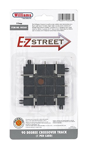 Street Track (Williams by Bachmann E-Z Street 90 Degree Crossover Track 1 Per Card - O Scale)