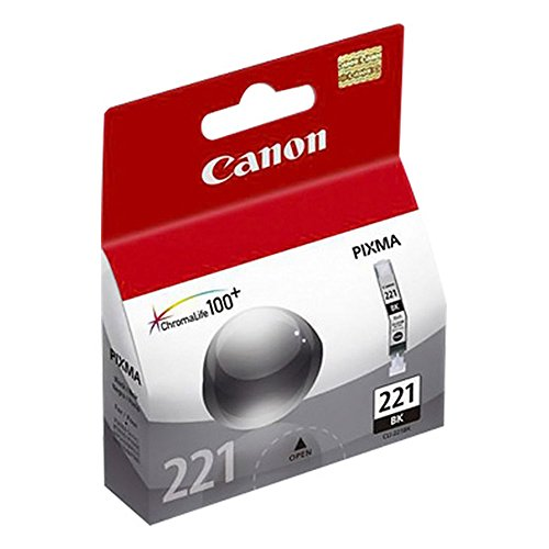 Canon 2946B001 (CLI-221BK) Black Ink Cartridge Standard Yield