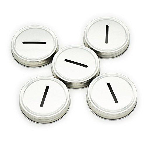 LKXC 5 Coin Lids for Mason Jar (Mason Jar not - Jars Coin