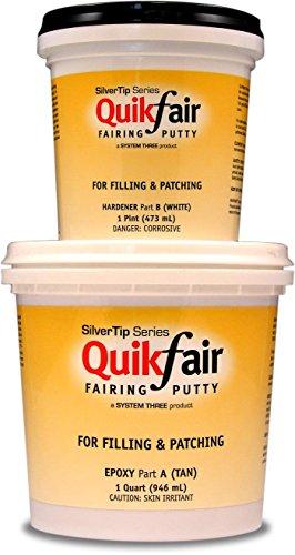 System Three 1400K42 Silvertip QuikFair Kit, 1.5 Quarts, Tan