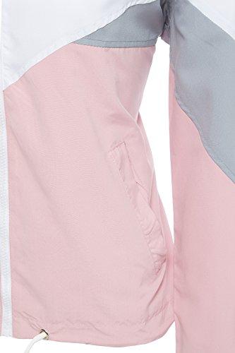 Shelikes Unique Rose Blouson Taille Femme TnATwqtrx