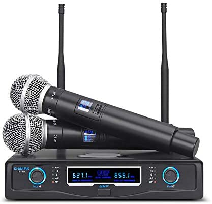Amazon Com G Mark G120 Wireless Microphone Dynamic Handheld Microphone Karaoke Stage 50 Meters Receive Home Audio Theater