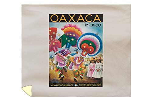 Oaxaca Vintage Poster (Artist: Covarrubias) Mexico 58912 (88x104 King Microfiber Duvet Cover)