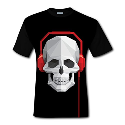 Titanic Costumes For Kids (Skull Wear Headset Boy Crew Neck T Shirt Sports Tee Tops for Mens M)