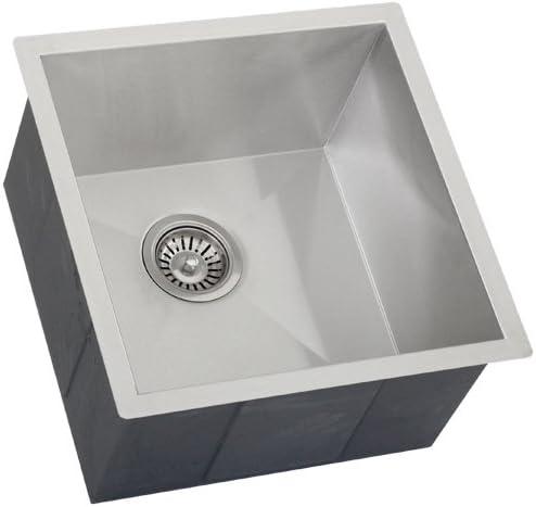 Phoenix 17-1 4 Undermount 16 Gauge Stainless Steel Square Kitchen Bar Sink Zero Radius