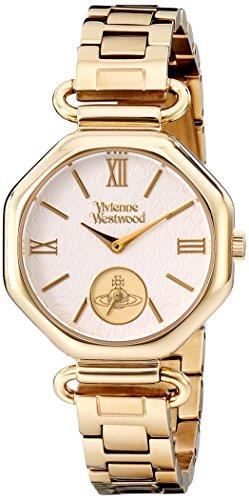 Vivienne Westwood Women's VV101GD Westbury Bracelet Analog Display Swiss Quartz Gold Watch