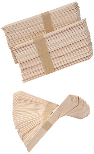 GiGi Accu Edge Small Wax Applicators for Hair Waxing / Hair Removal, 100 Pieces