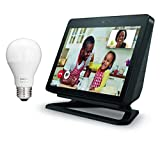 Echo Show (2nd Gen) with Adjustable Stand and Free Philips Hue Bulb - Charcoal