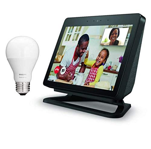 All-new Echo Show (2nd Gen) with Adjustable Stand and Free Philips Hue Bulb - Charcoal