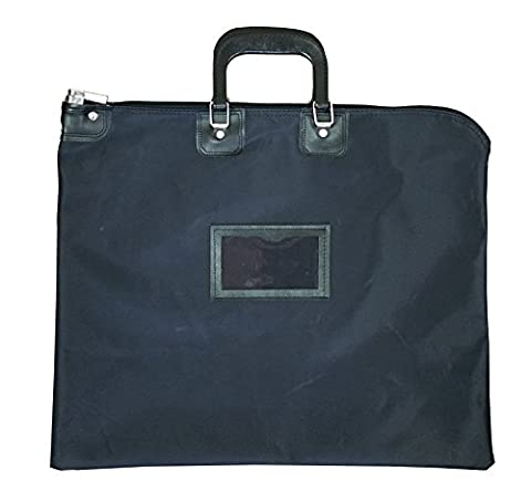 Locking Document HIPAA Bag 16 x 20 with Handles (Black) - Locking Security Bags