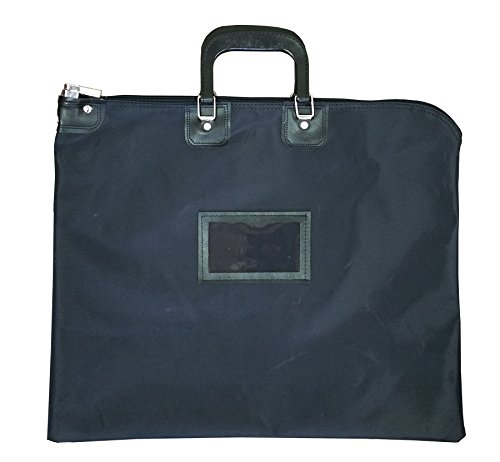 Locking Document HIPAA Bag 16 x 20 with Handles (Black) ()