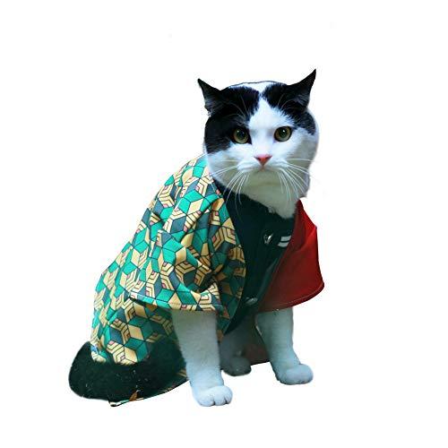 JSVDE Pet Costume Cat Small Dog Cosplay for Anime Demon Slayer: Kimetsu no Yaiba (Small, Tomioka Giyuu) from JSVDE