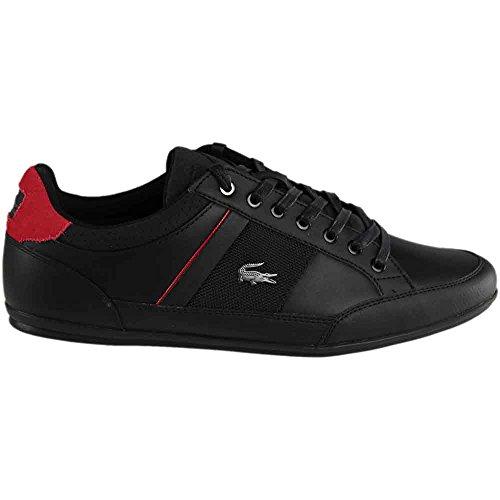 Hommes Lacoste Chaymon 317 Sneaker Noir / Rouge