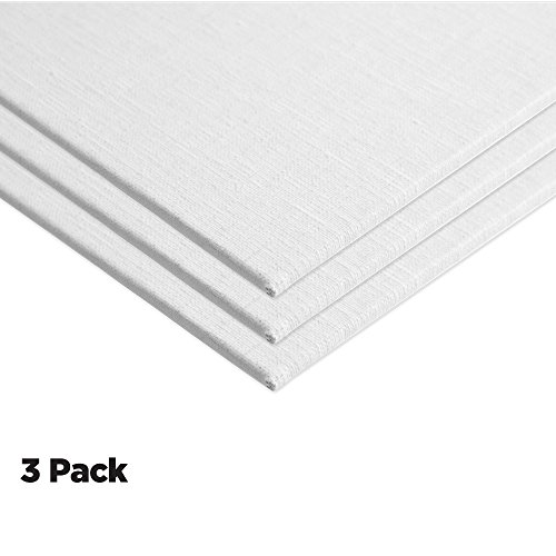 Centurion Deluxe Oil Primed Linen Panel 3-Pack 14x18'' by Centurion