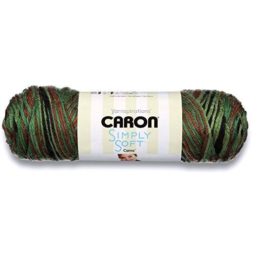 Caron Simply Soft Yarn (4) Medium Worsted Gauge 100% Acrylic - 5oz -  Renegade Camo -  Machine Wash & Dry