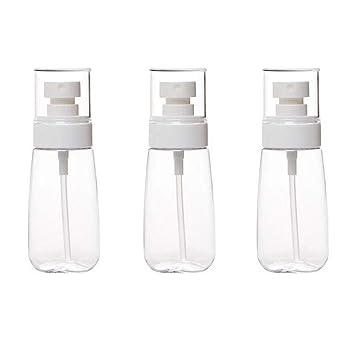 Amazon.com: Juego de 3 botellas de plástico transparente con ...